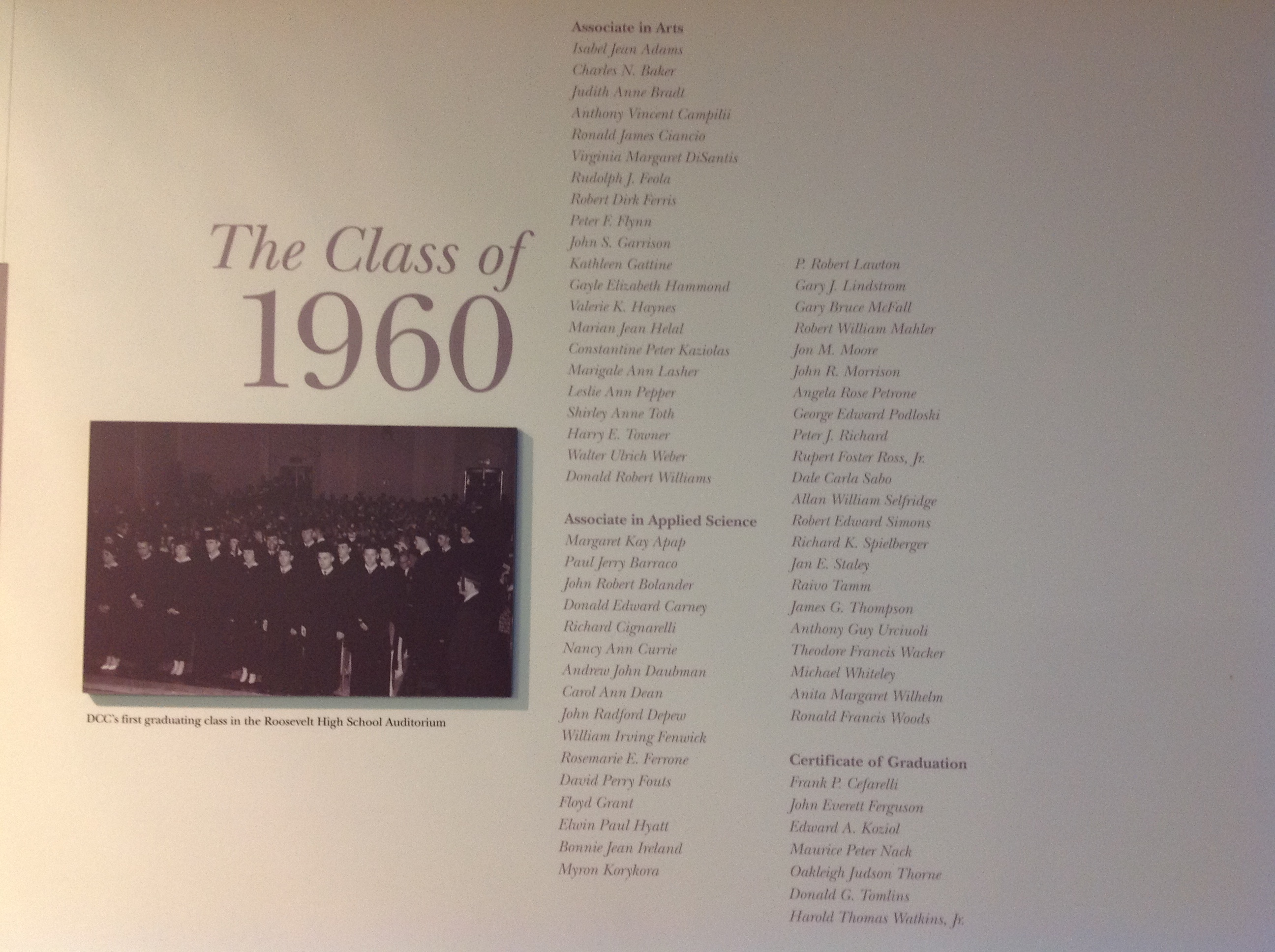 The Class of 1960