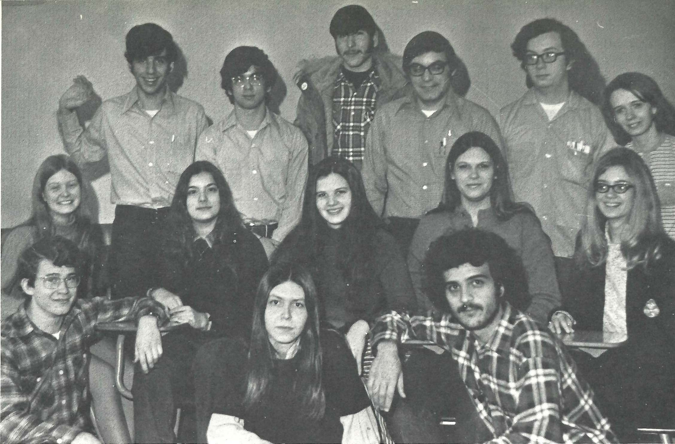 1972 Chronos yearbook staff