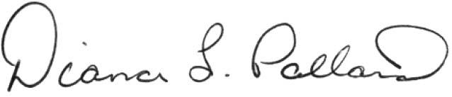 Diana L. Pollard signature