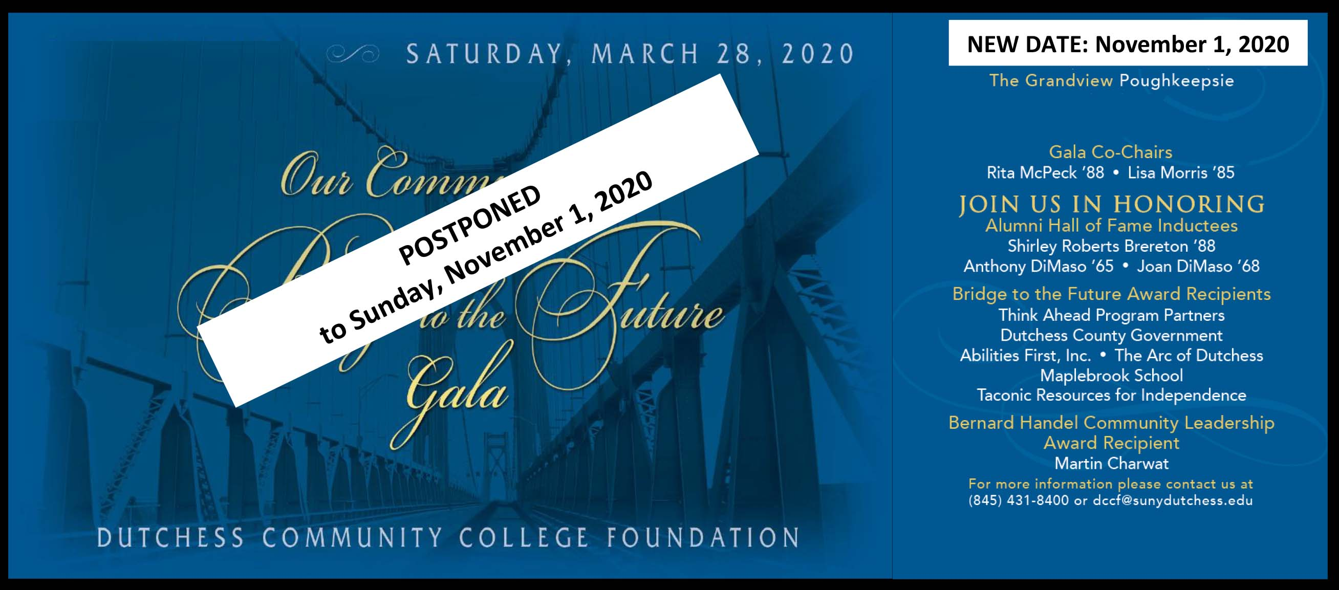 2020 Gala postponed