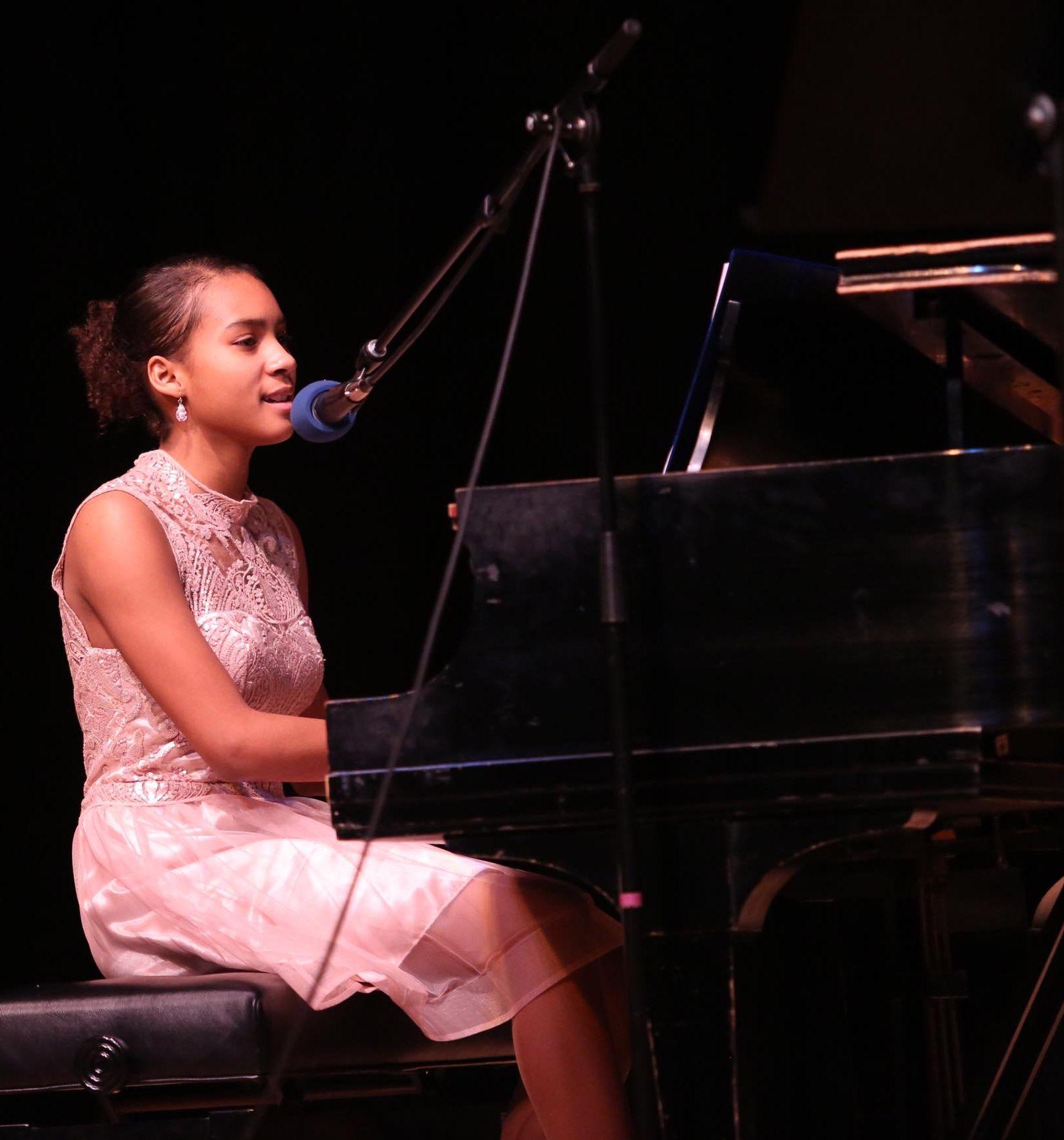 Imani at Piano